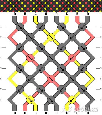 Схема фенечки 8415