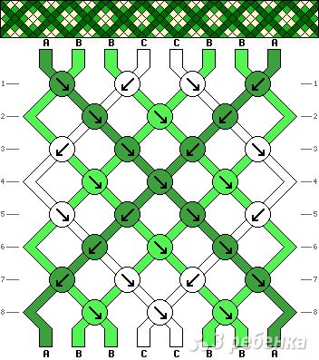 Схема фенечки 8741