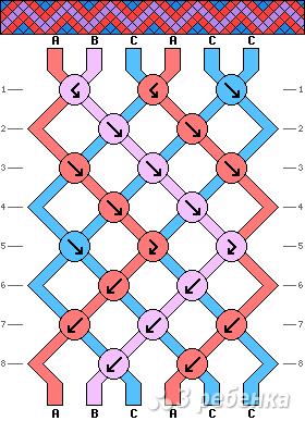 Схема фенечки 8671