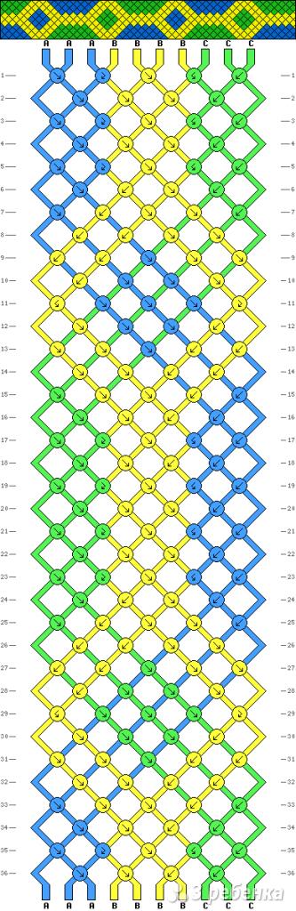 Схема фенечки 8583