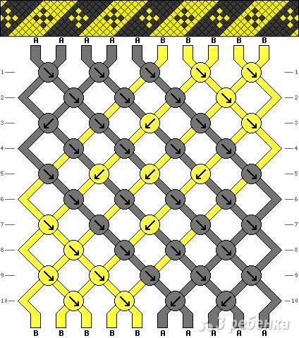 Схема фенечки 8263