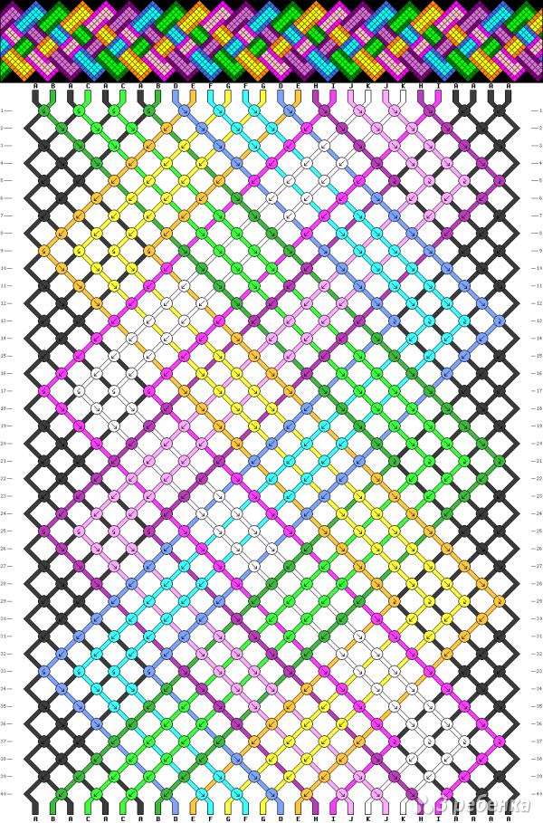 Схема фенечки 8476
