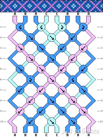 Схема фенечки 8516