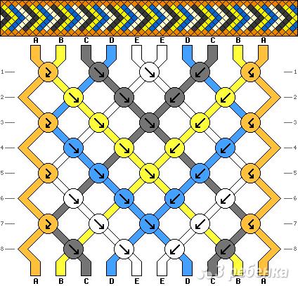 Схема фенечки 8286