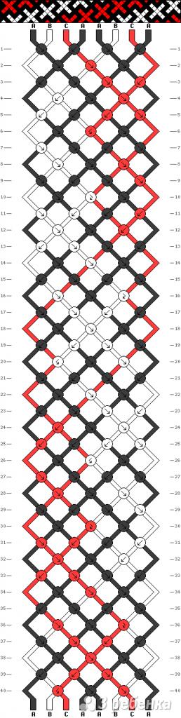 Схема фенечки 8697