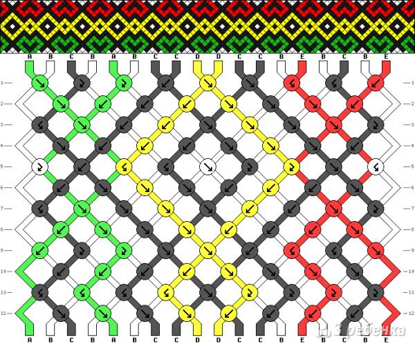 Схема фенечки 8243