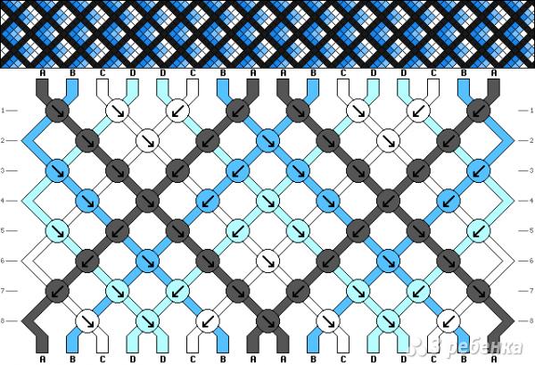 Схема фенечки 8881