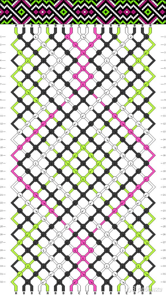 Схема фенечки 8503
