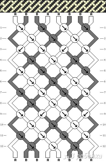 Схема фенечки 9065