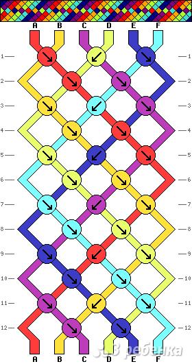 Схема фенечки 9428