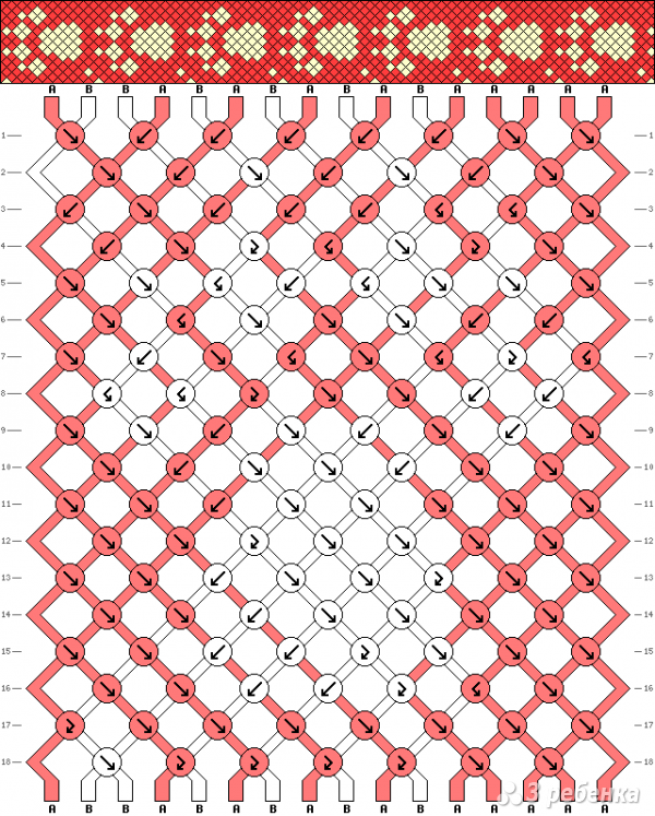 Схема фенечки 8225
