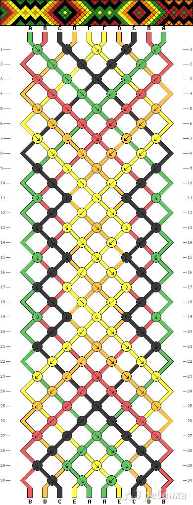 Схема фенечки 7944