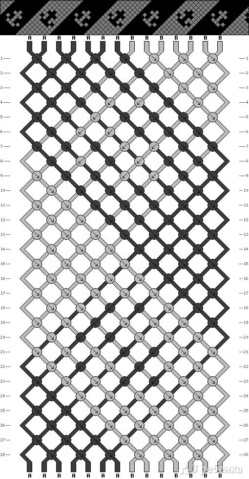 Схема фенечки 8101