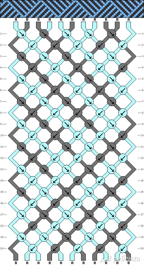 Схема фенечки 8301