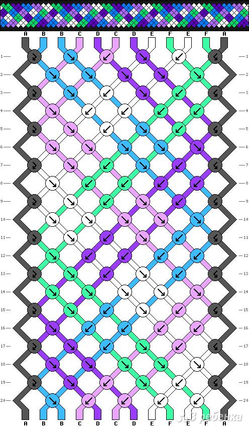 Схема фенечки 8178