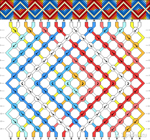 Схема фенечки 9260