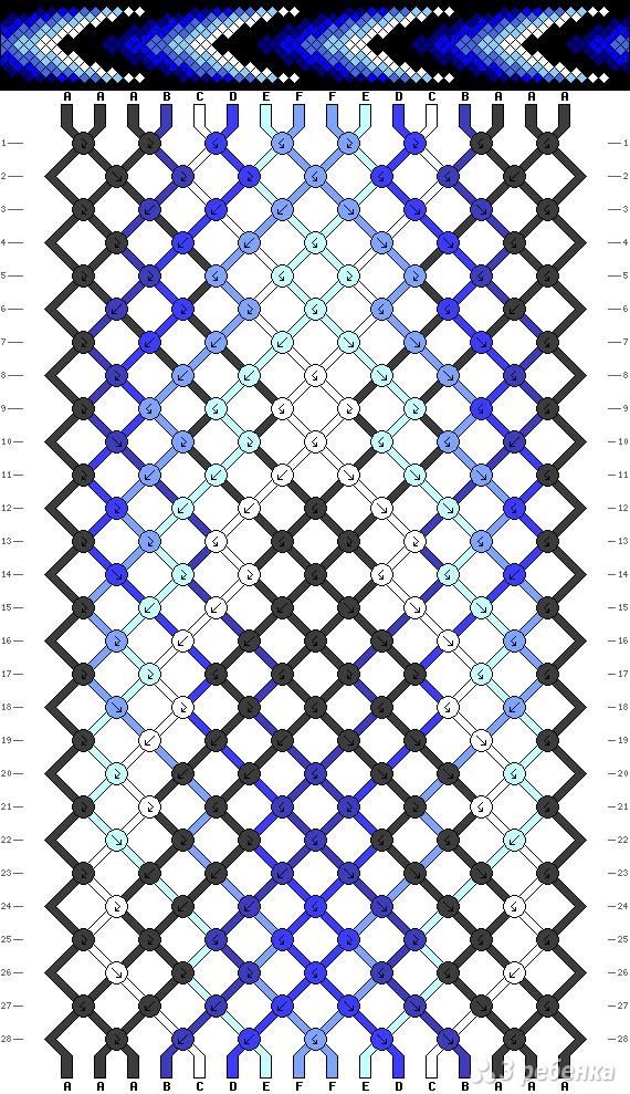 Схема фенечки 8347
