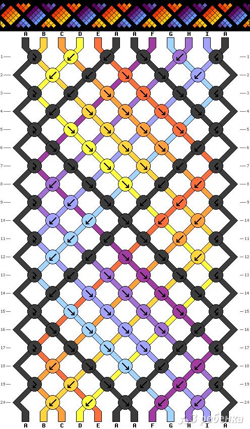 Схема фенечки 8126