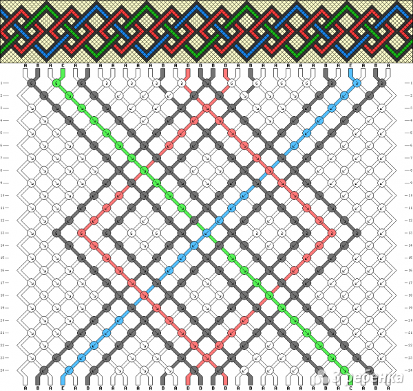 Схема фенечки 9323