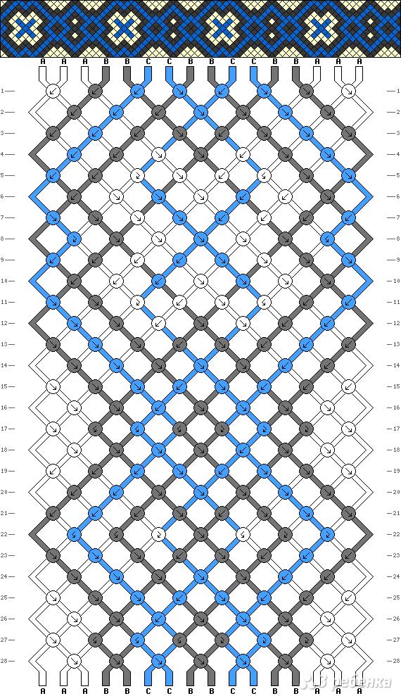 Схема фенечки 9017