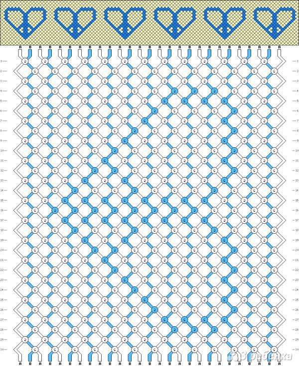 Схема фенечки 9164