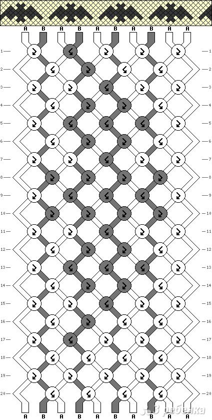 Схема фенечки 8990
