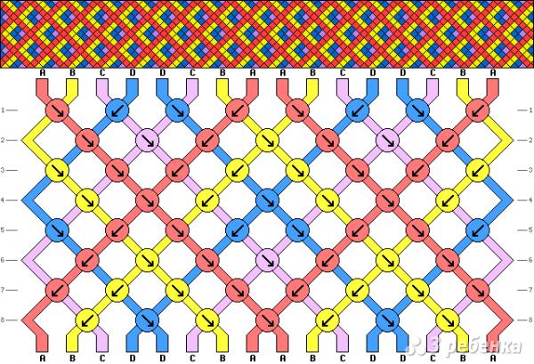 Схема фенечки 9332