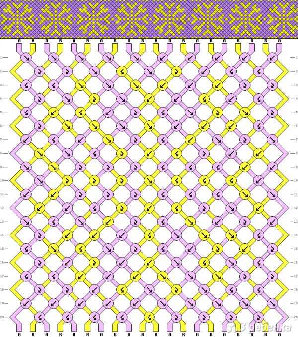 Схема фенечки 8136