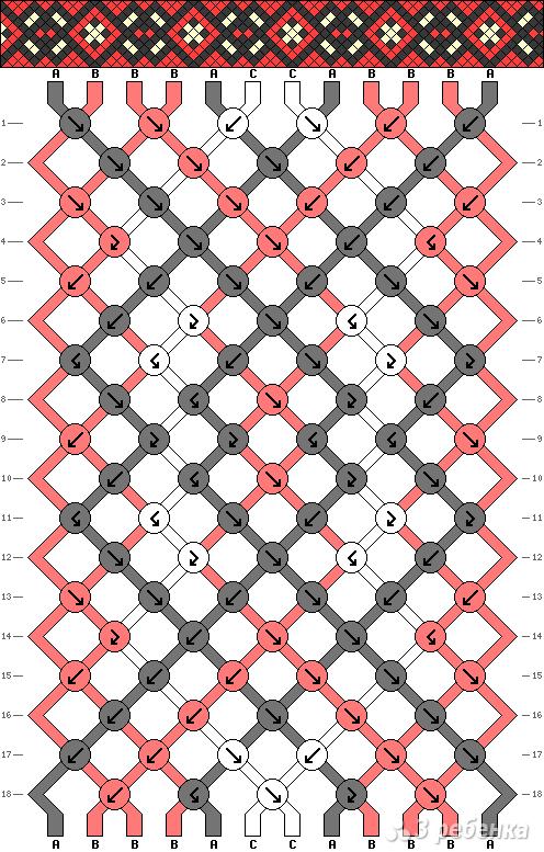 Схема фенечки 8688
