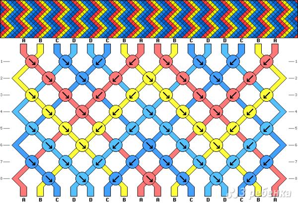 Схема фенечки 7999