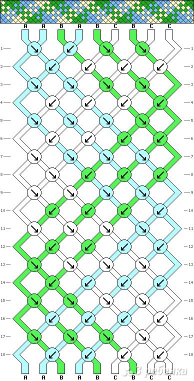 Схема фенечки 8905