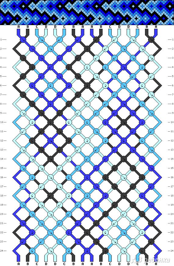 Схема фенечки 9346
