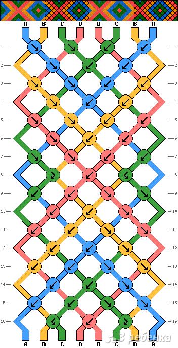 Схема фенечки 8640