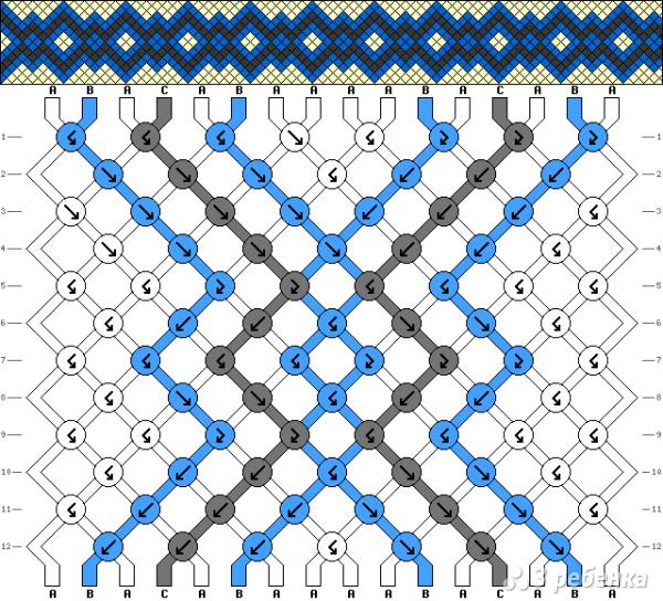 Схема фенечки 9360