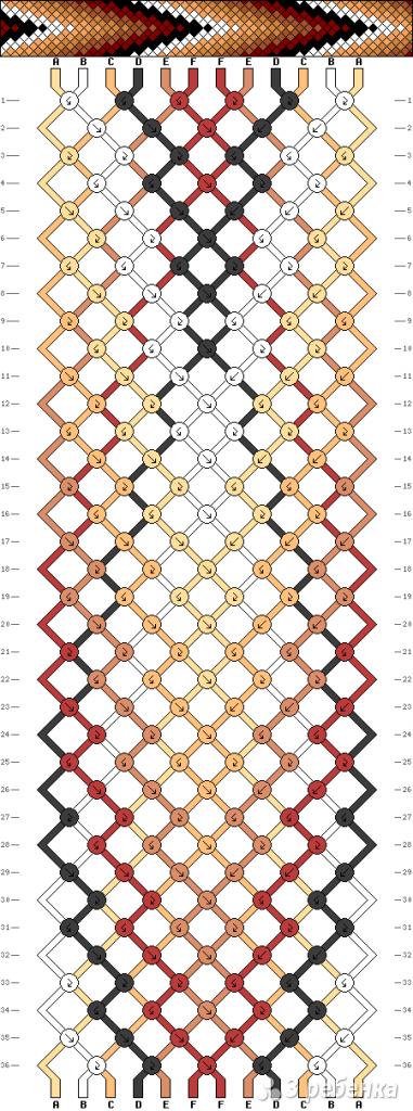 Схема фенечки 9191