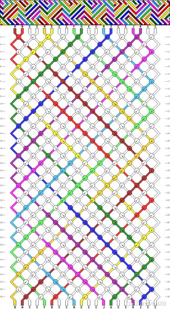 Схема фенечки 8825