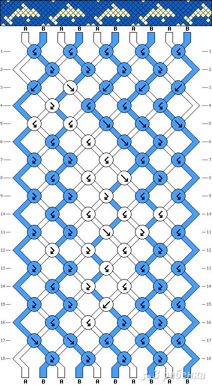 Схема фенечки 8037