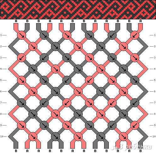 Схема фенечки 9087