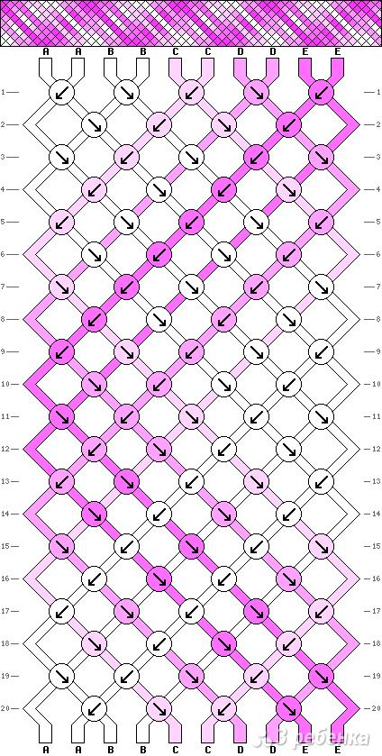 Схема фенечки 8496
