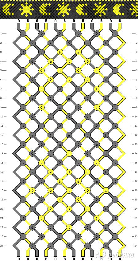 Схема фенечки 8802