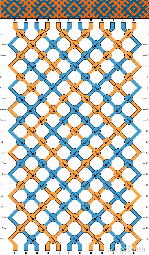 Схема фенечки 7962