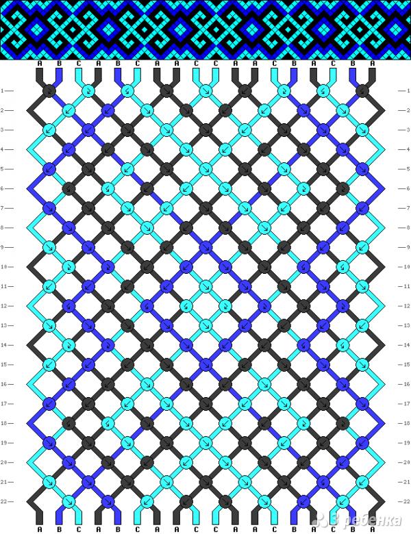 Схема фенечки 8780