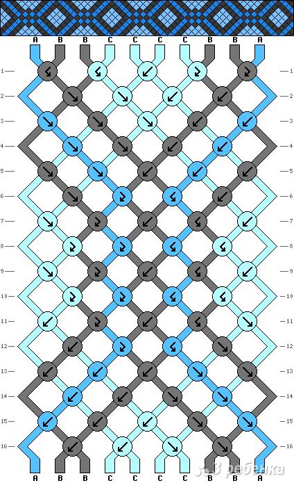 Схема фенечки 8219