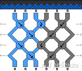 Схема фенечки 9378
