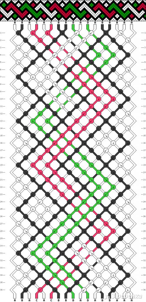 Схема фенечки 8971