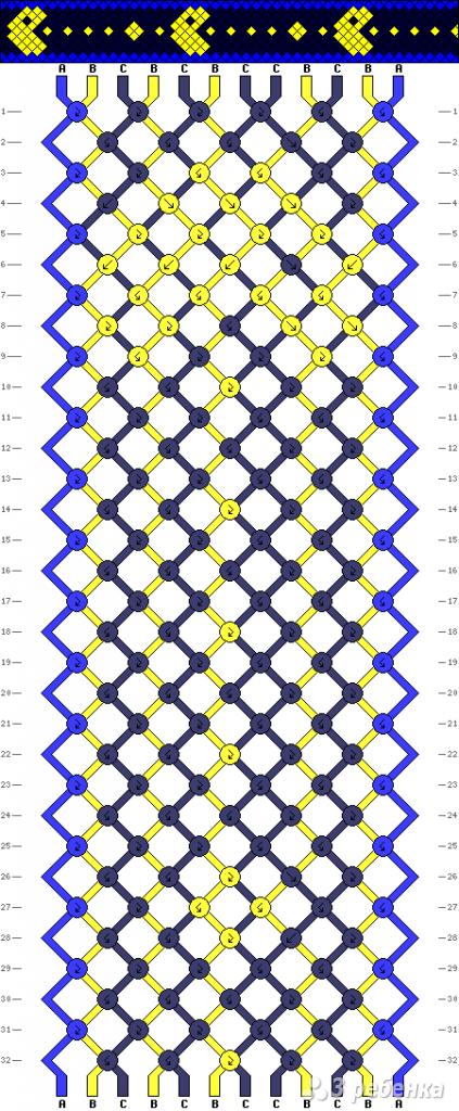 Схема фенечки 9093