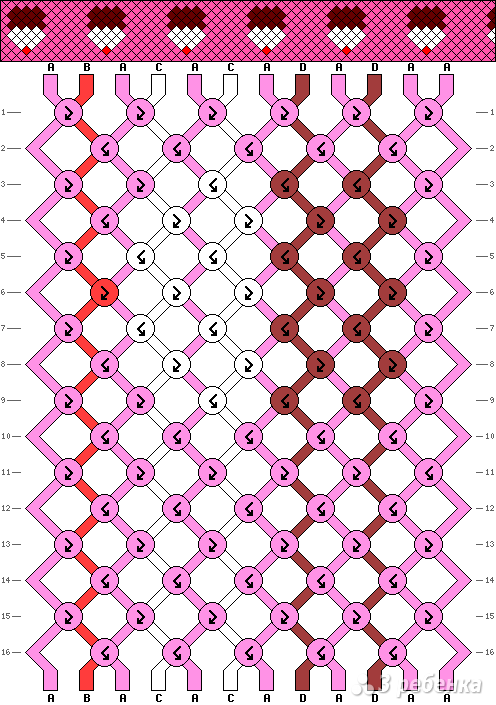 Схема фенечки 9444