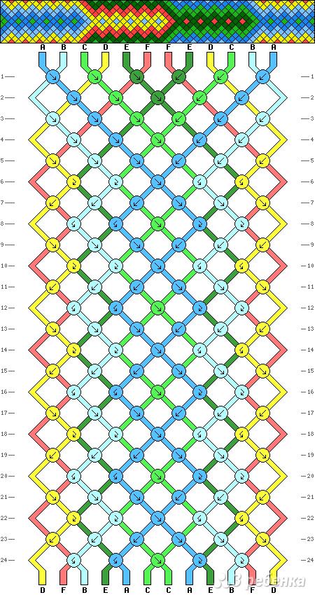 Схема фенечки 9219