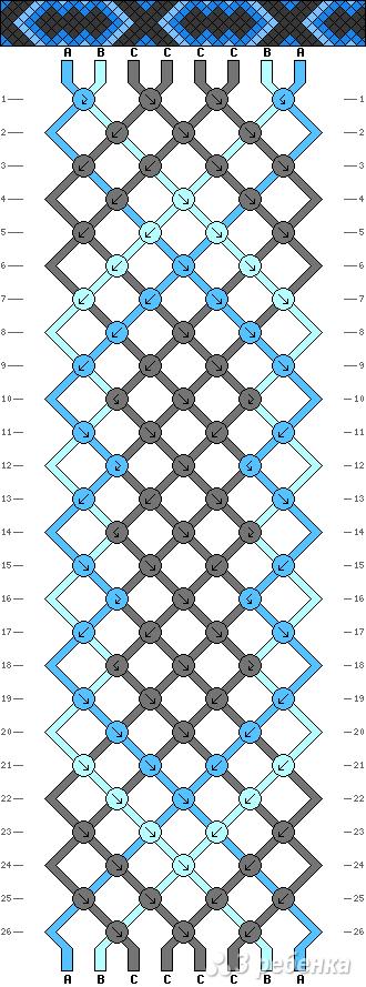 Схема фенечки 9101