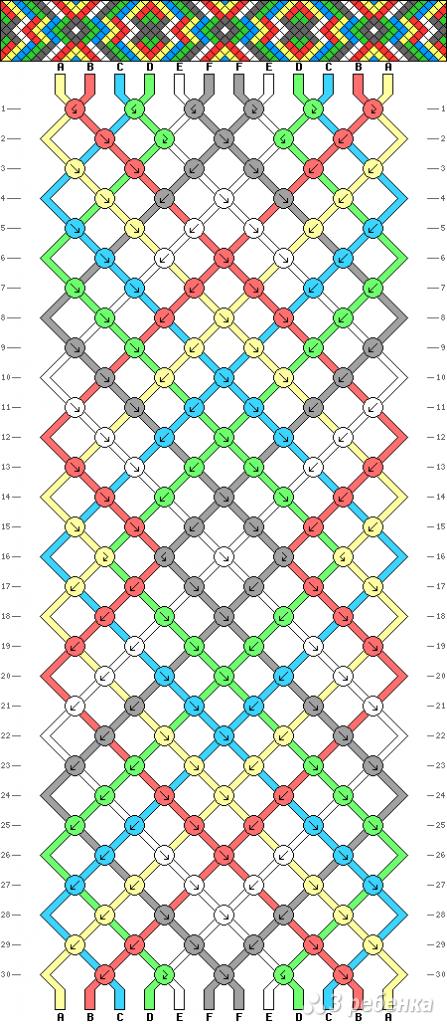 Схема фенечки 8707